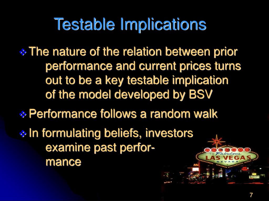 Testable Implications