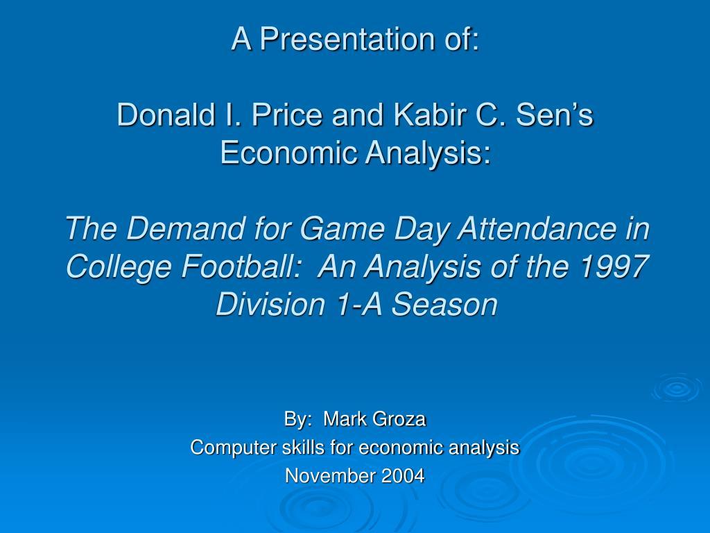 A Presentation of: