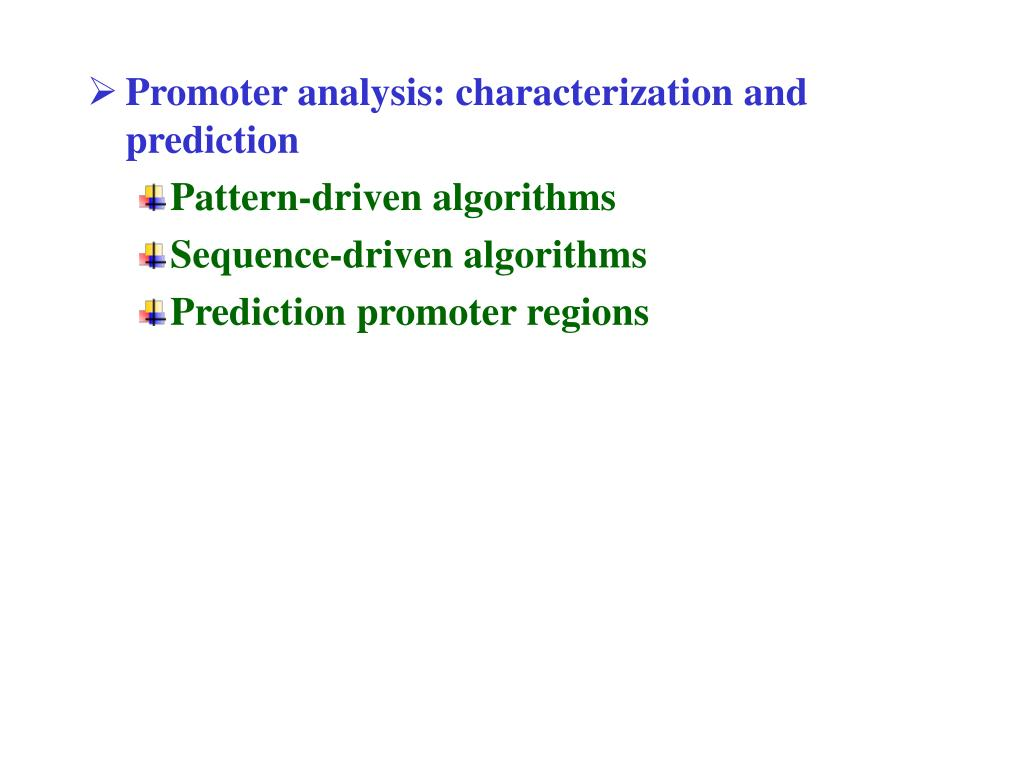 Promoter analysis: characterization and prediction
