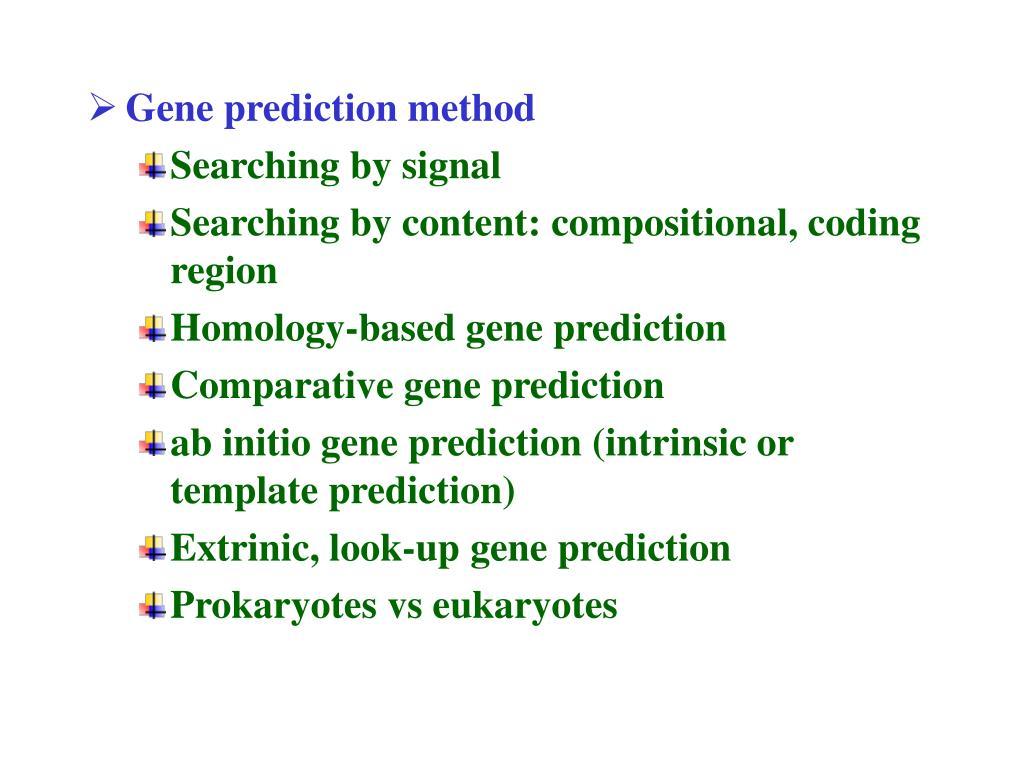Gene prediction method