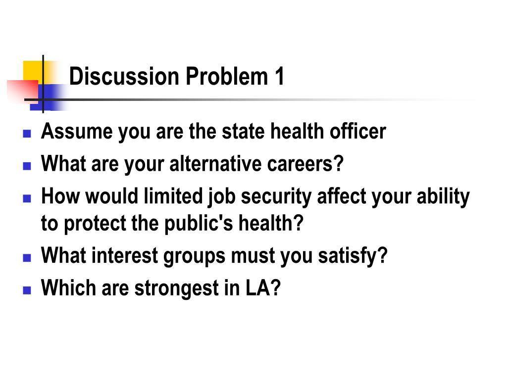 Discussion Problem 1