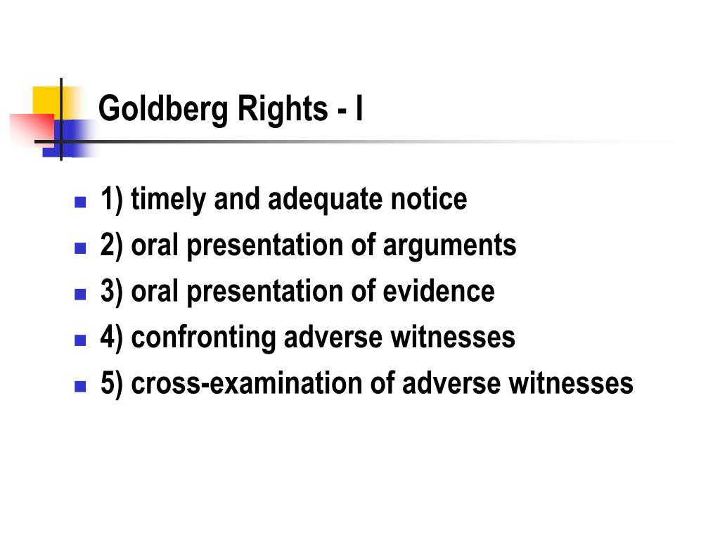 Goldberg Rights - I