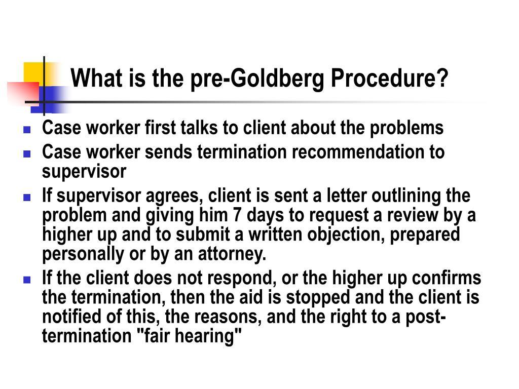 What is the pre-Goldberg Procedure?