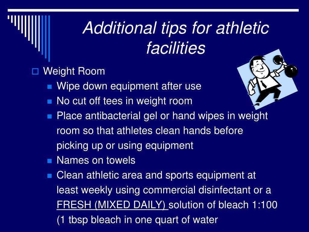 Additional tips for athletic facilities