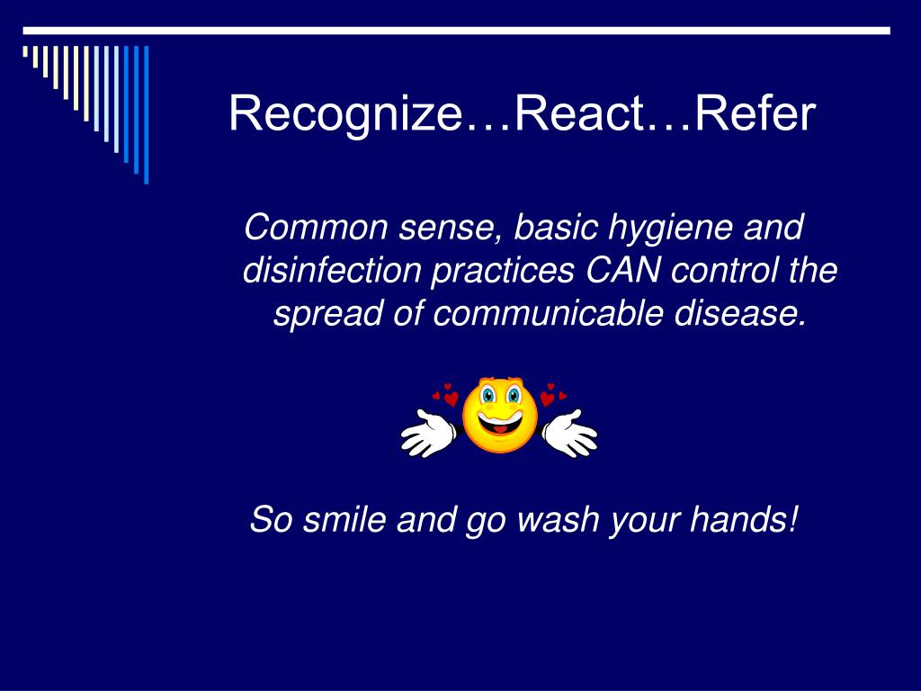 Recognize…React…Refer