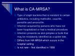 what is ca mrsa