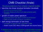 cmb checklist finale