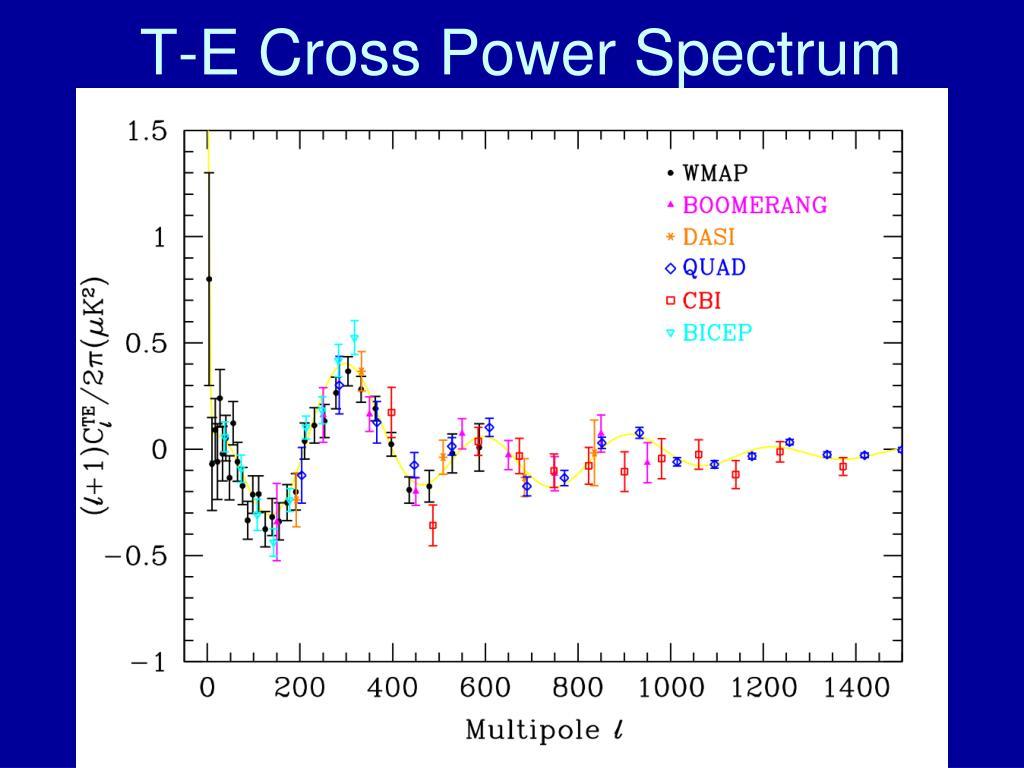 T-E Cross Power Spectrum