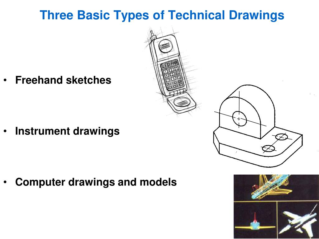 what are the different kinds of technical drawing