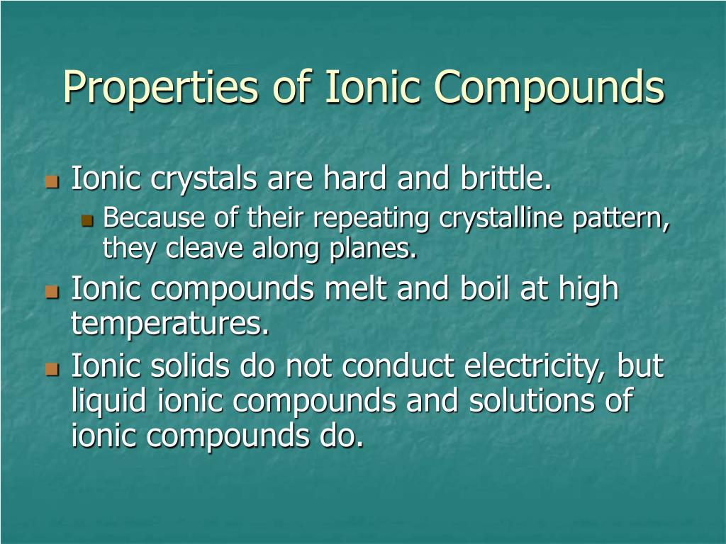 ionic compounds organize in a characteristic crystal lattice of
