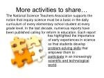 more activities to share
