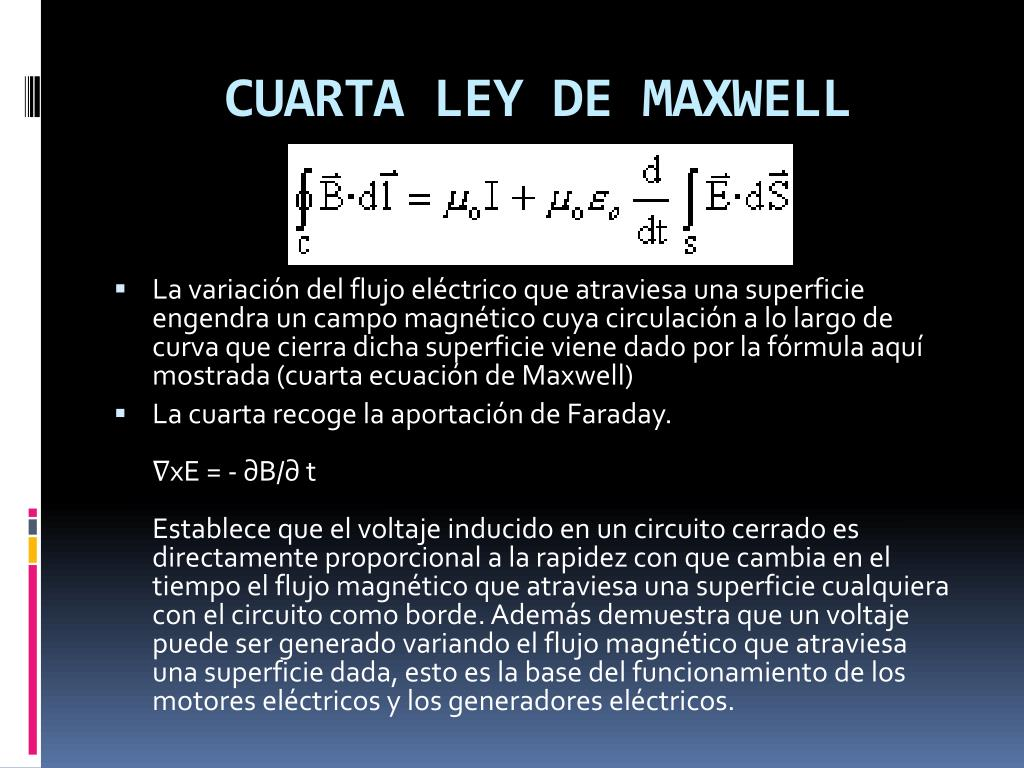 CUARTA LEY DE MAXWELL