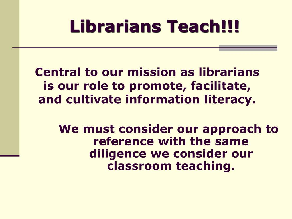 Librarians Teach!!!