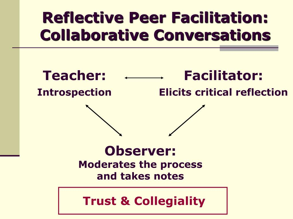 Reflective Peer Facilitation: