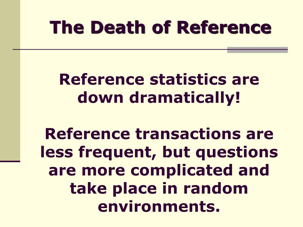 The Death of Reference
