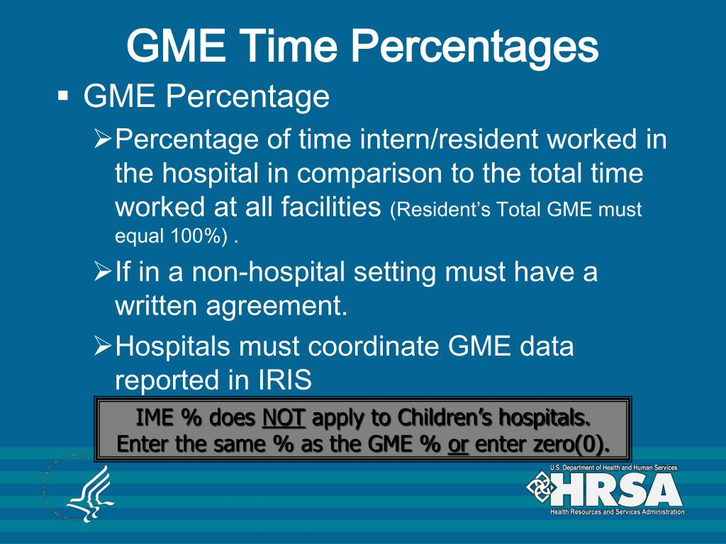 GME Time Percentages