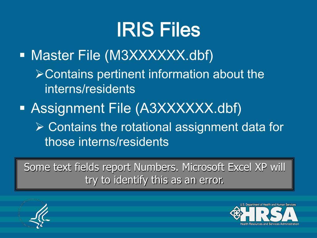 IRIS Files