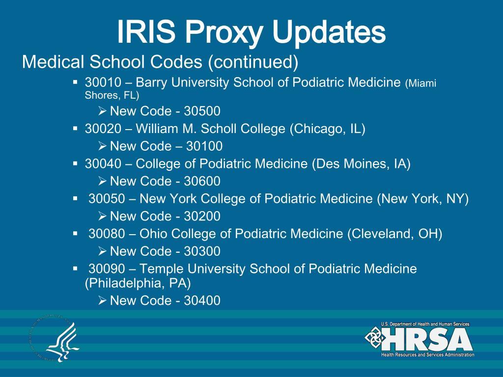 IRIS Proxy Updates