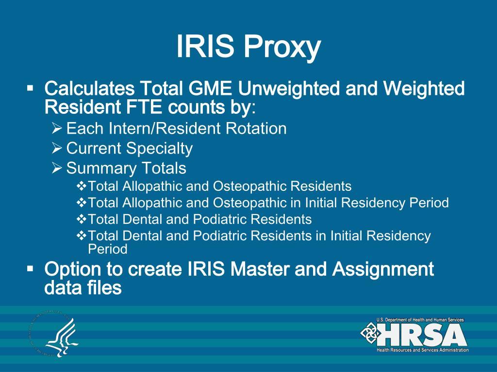 IRIS Proxy