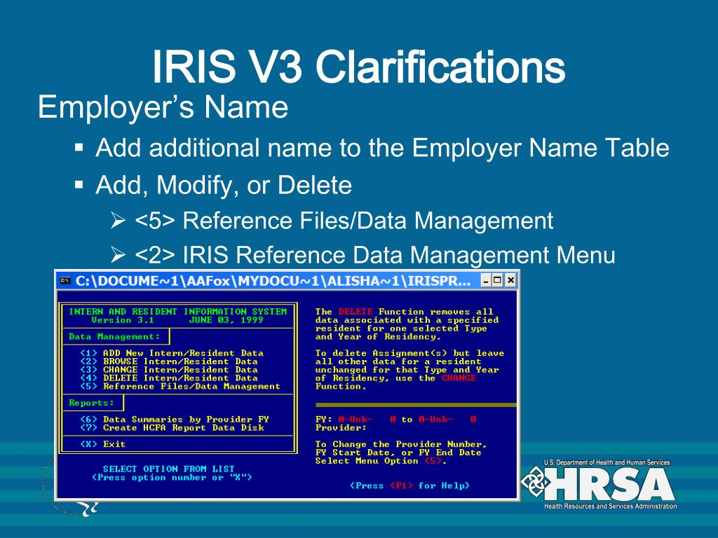 IRIS V3 Clarifications