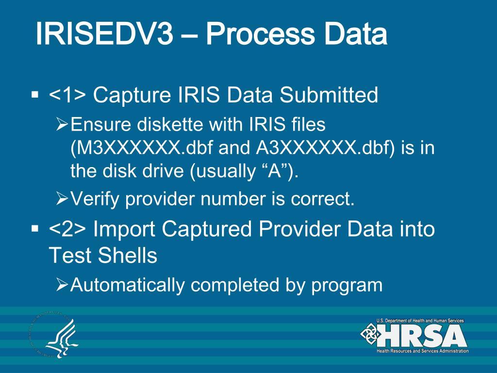 IRISEDV3 – Process Data