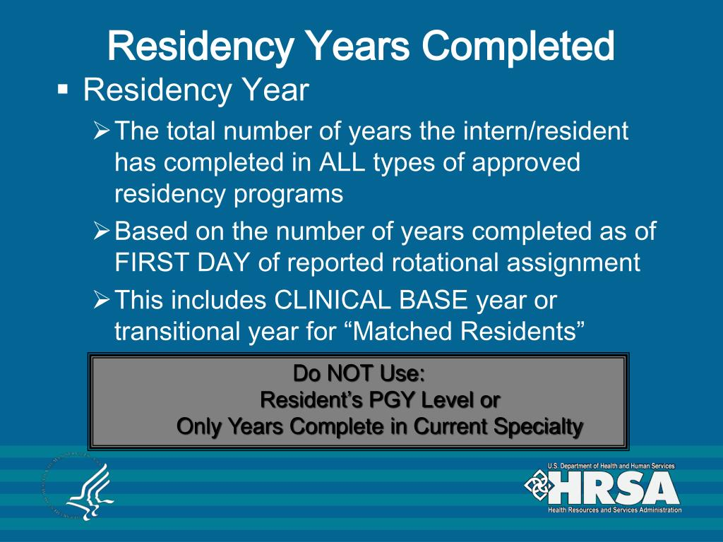 Residency Years Completed
