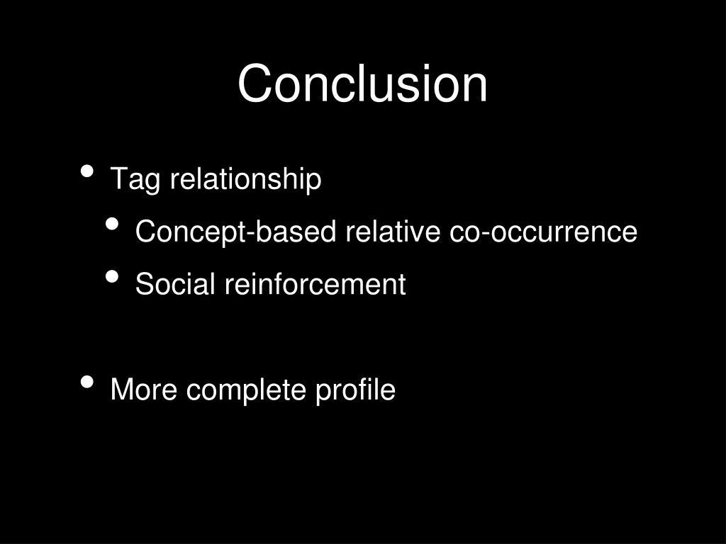 Tag relationship