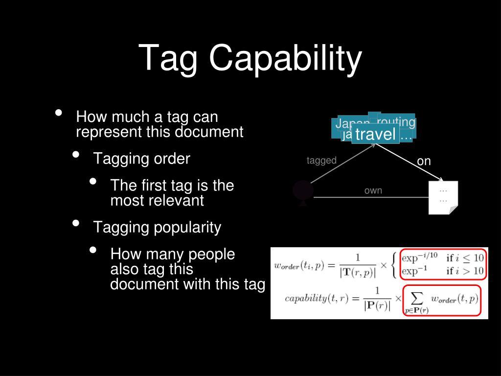 Tag Capability