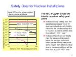 safety goal for nuclear installations