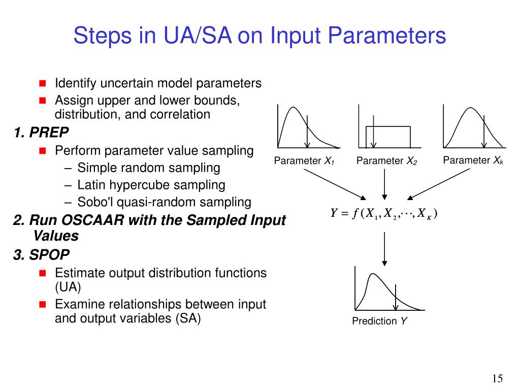 Steps in UA/SA on Input Parameters