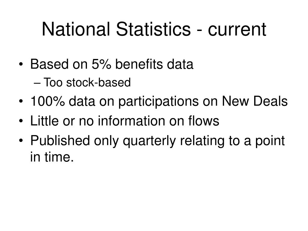 National Statistics - current