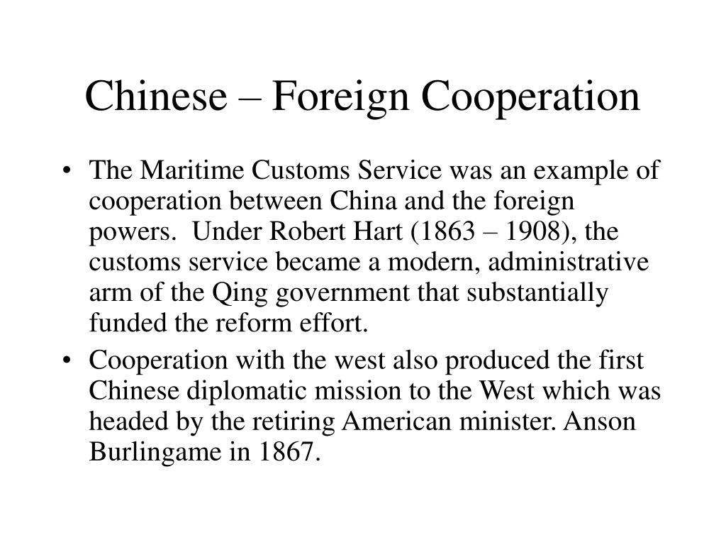 Chinese – Foreign Cooperation