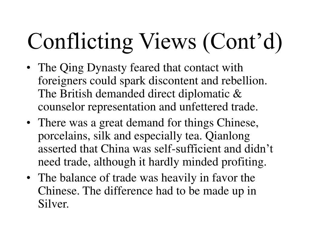 Conflicting Views (Cont'd)