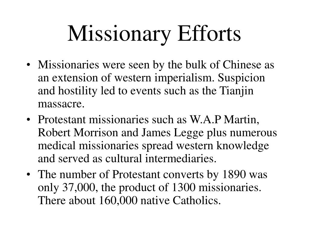 Missionary Efforts