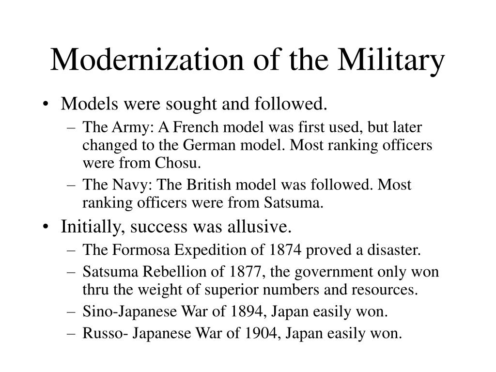 Modernization of the Military