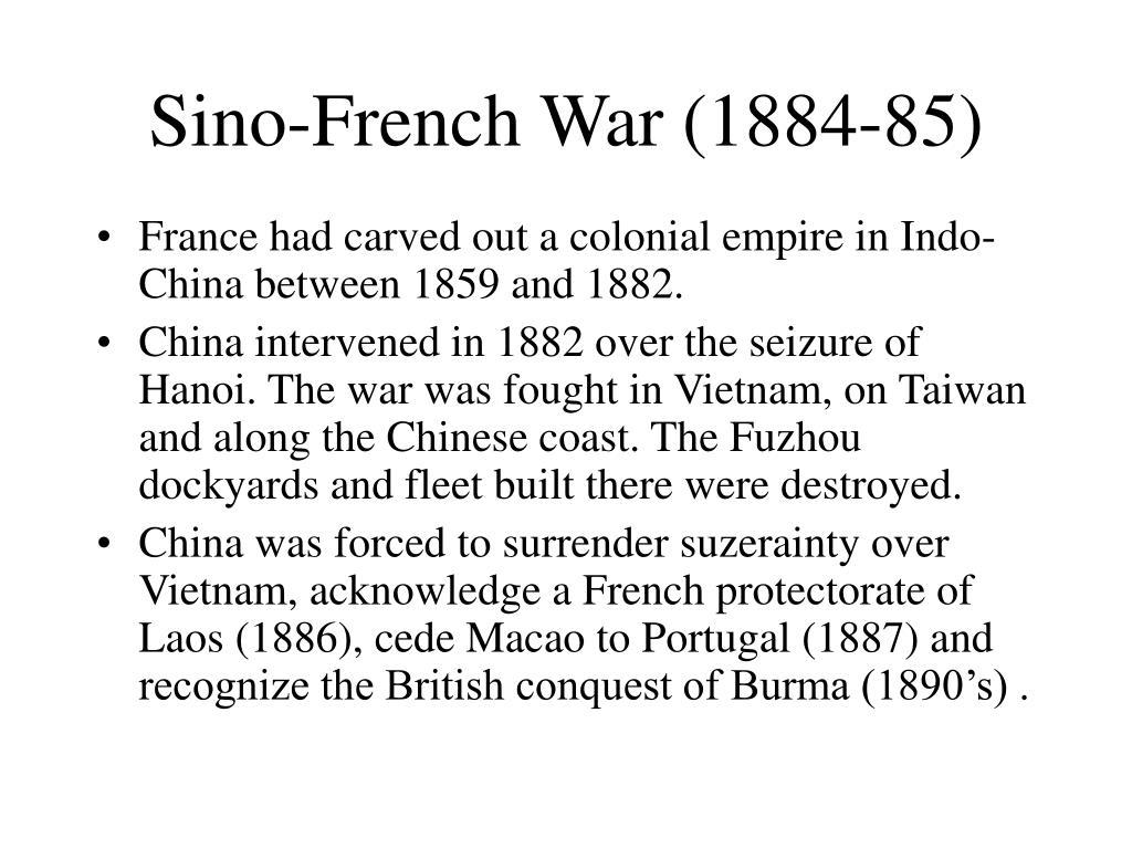 Sino-French War (1884-85)