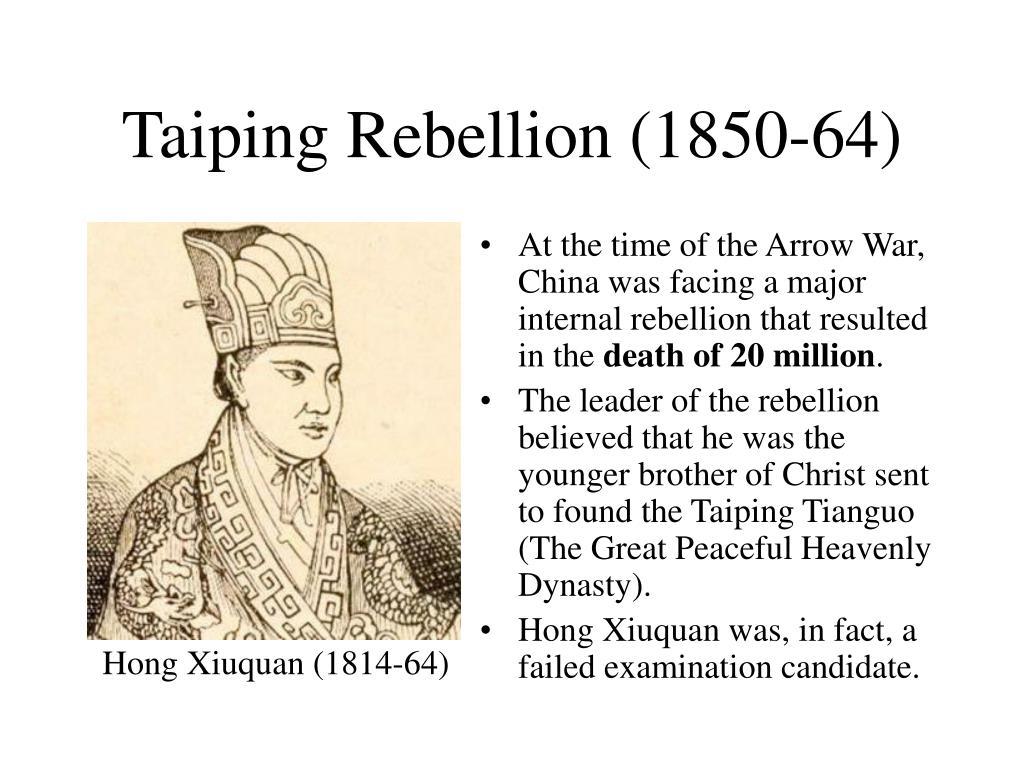 Taiping Rebellion (1850-64)