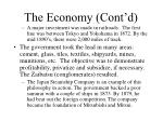 the economy cont d