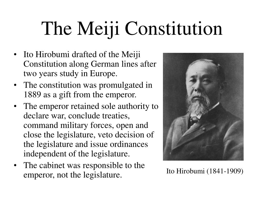 The Meiji Constitution
