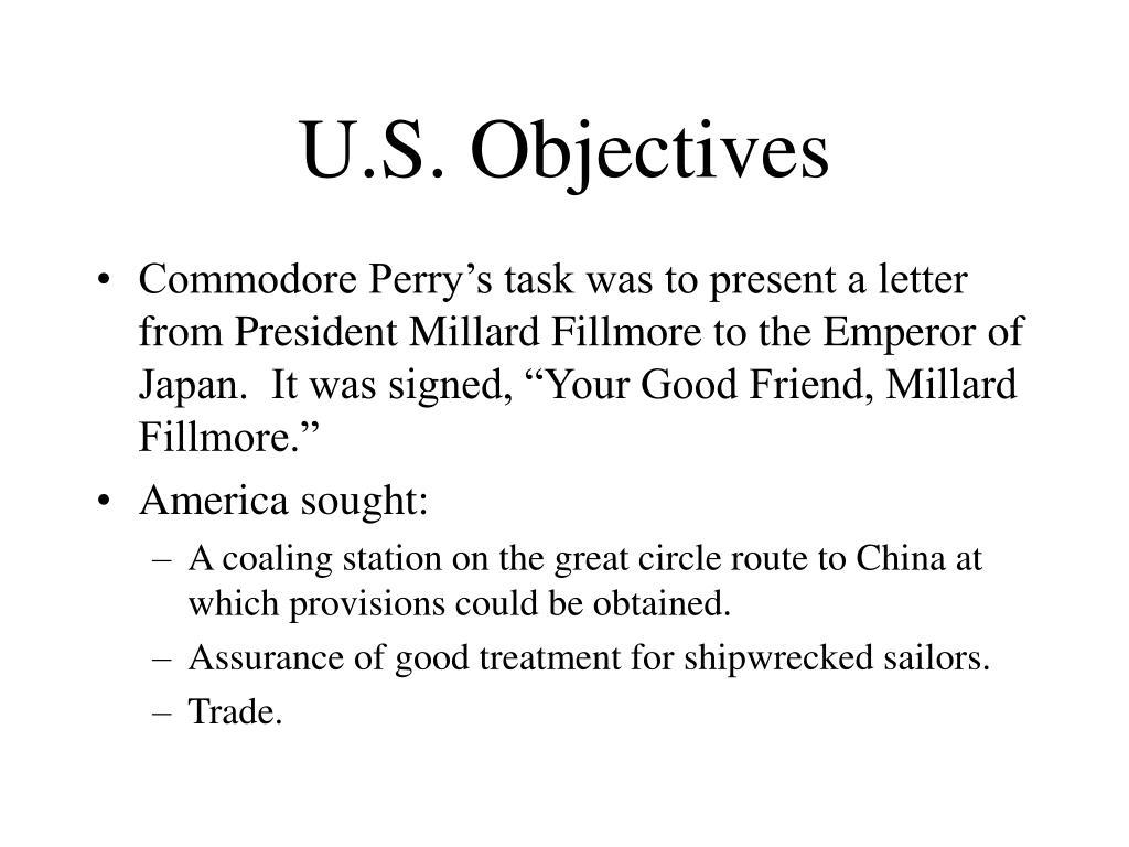 U.S. Objectives