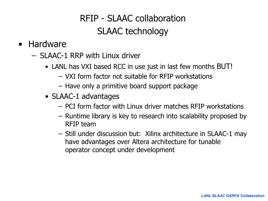 RFIP - SLAAC collaboration