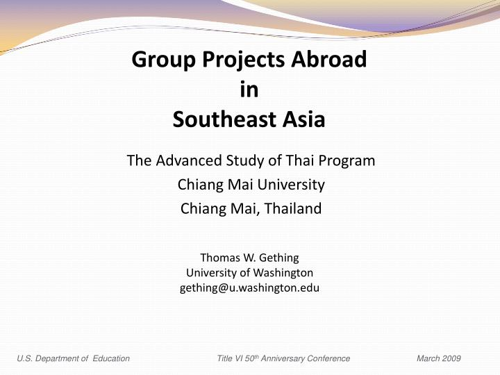 Group projects abroad in southeast asia2