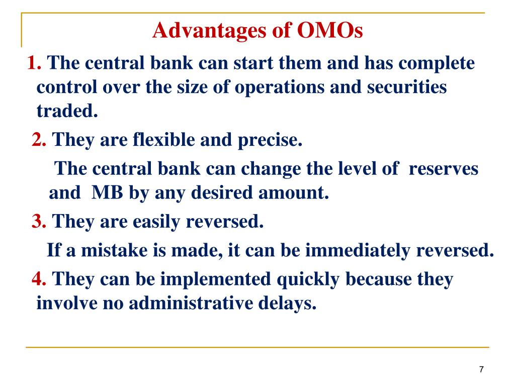 Advantages of OMOs