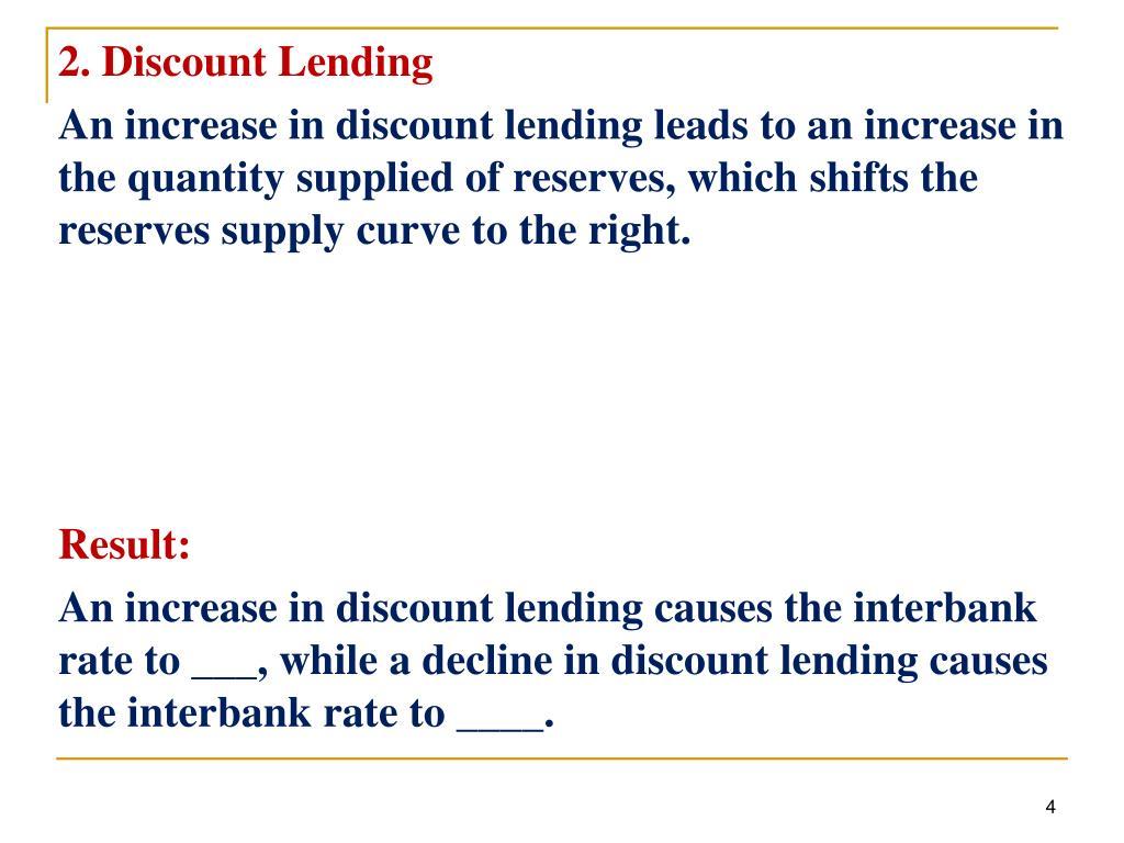 2. Discount Lending
