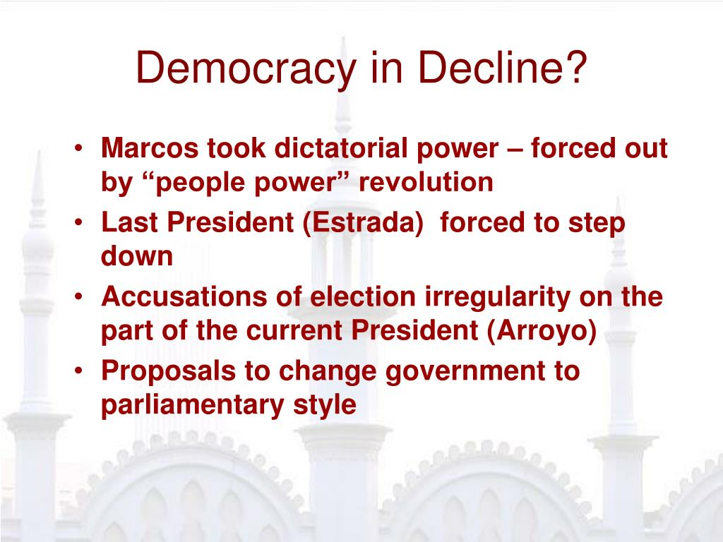 Democracy in Decline?
