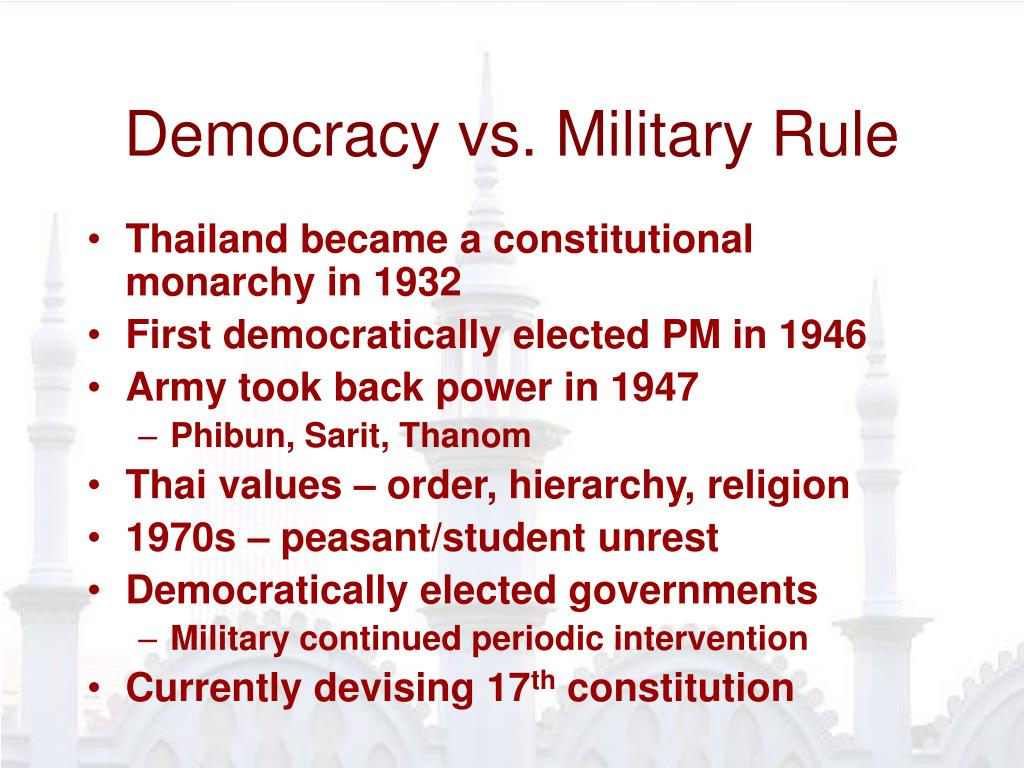 Democracy vs. Military Rule