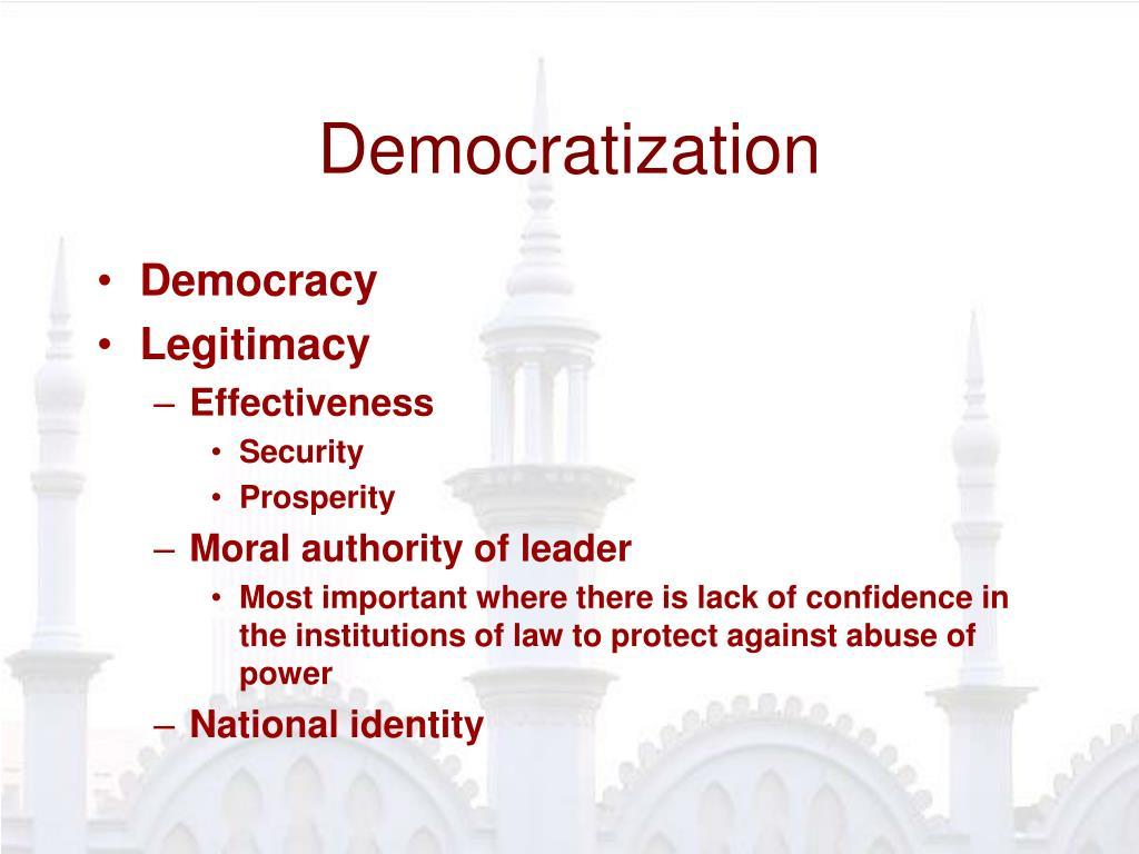 Democratization