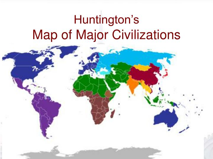 Huntington s map of major civilizations