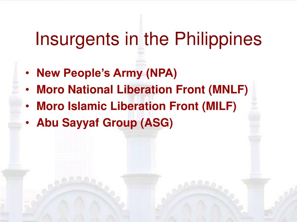 Insurgents in the Philippines