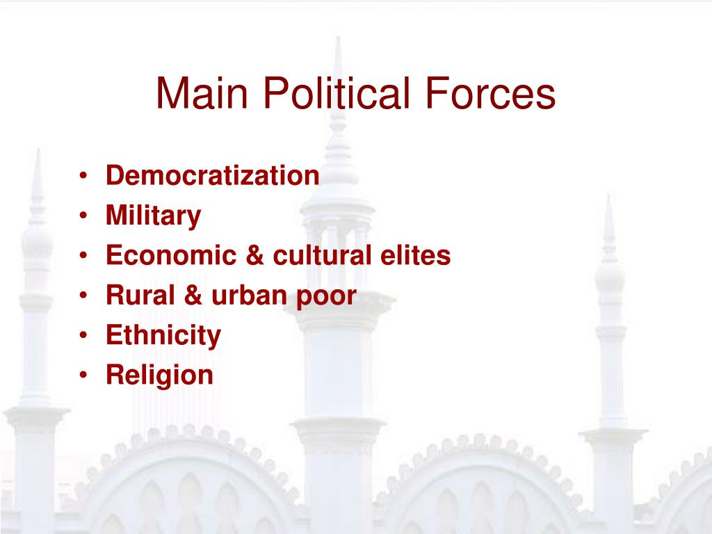 Main Political Forces